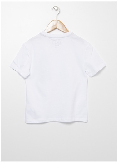 Limon Company Limon Erkek Çocuk Beyaz-Siyah Bisiklet Yaka T-Shirt Beyaz